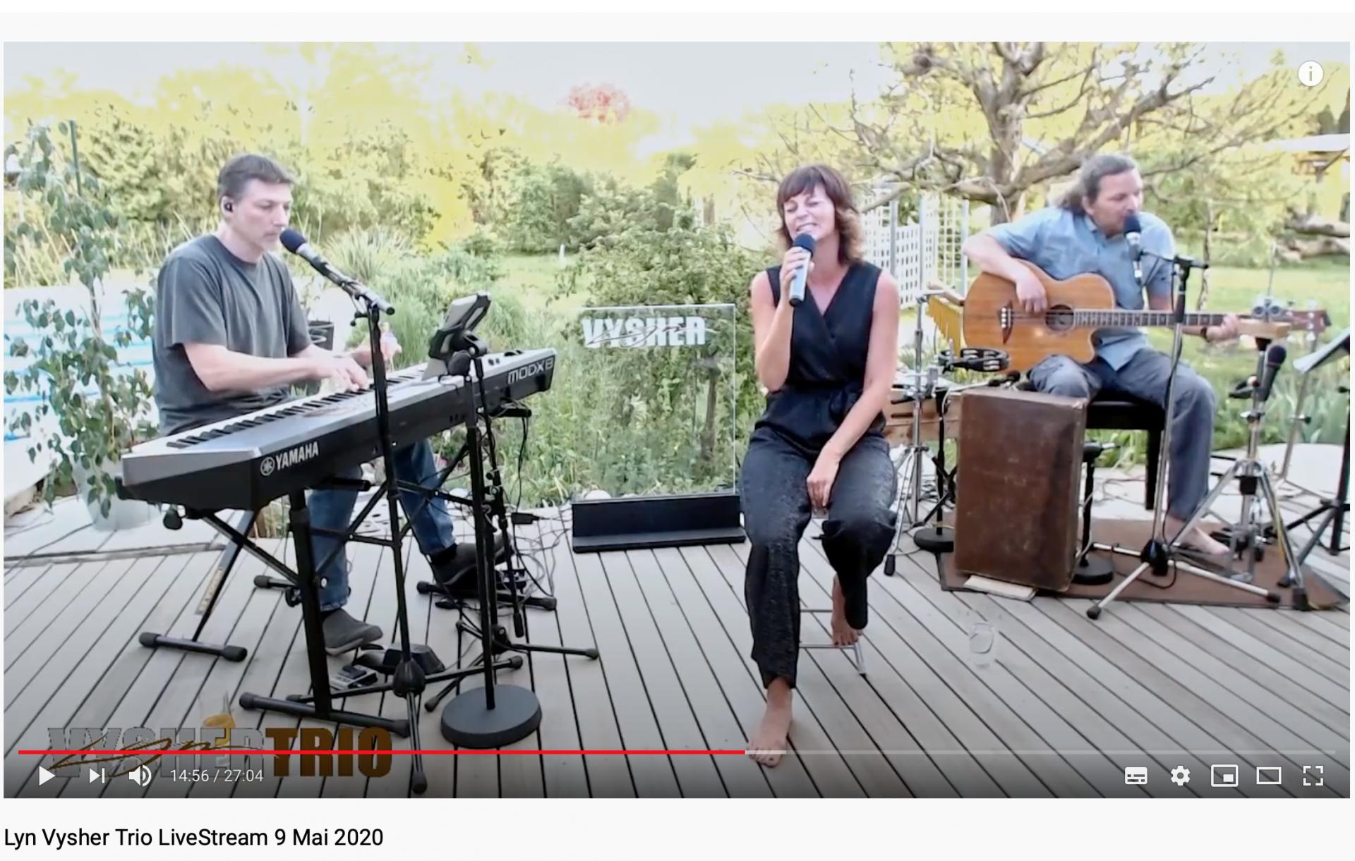 Lyn Vysher Trio Live Streaming Konzert zum Muttertag