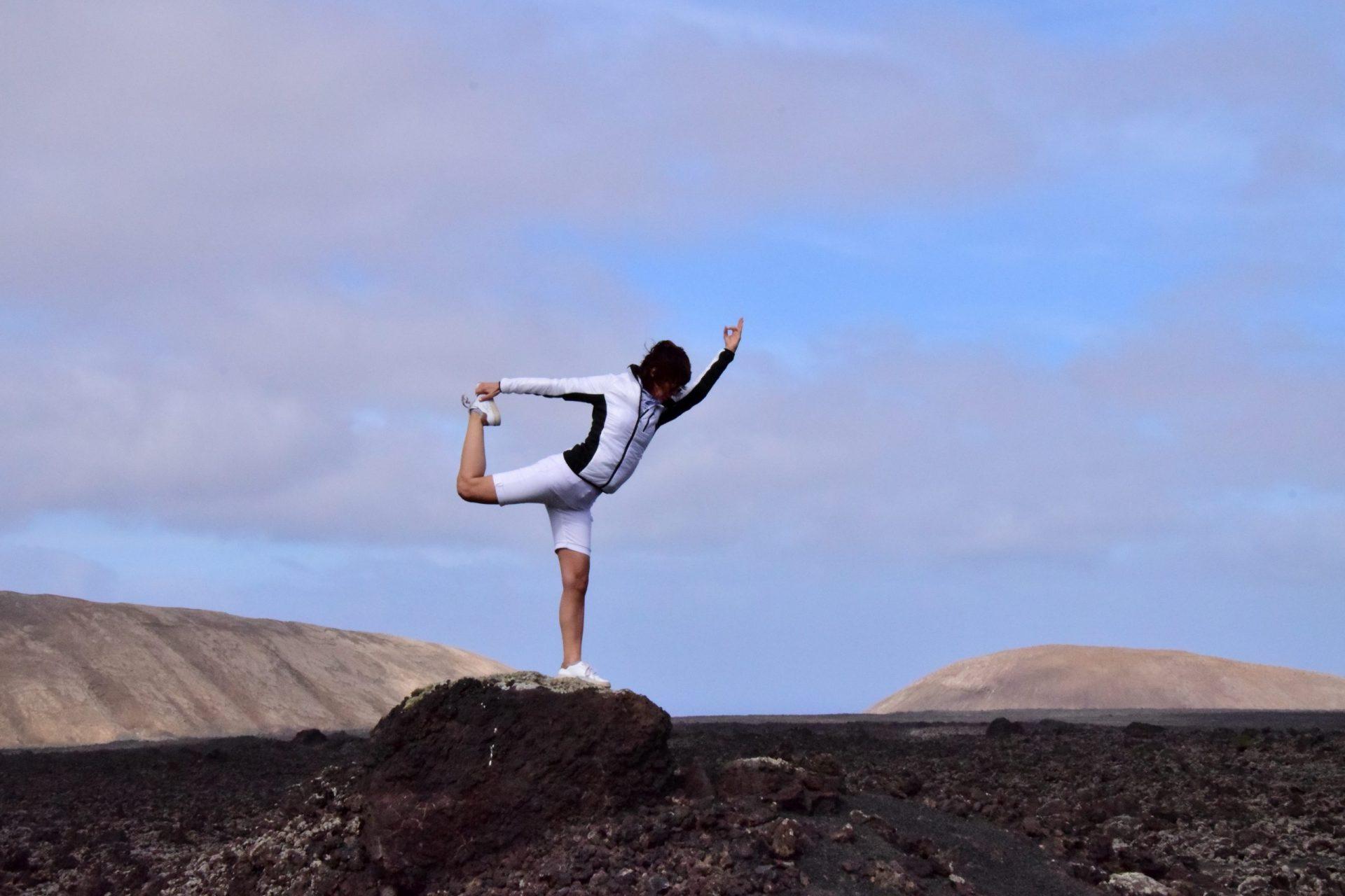 Yogafoto der Tänzer, lyn yoga