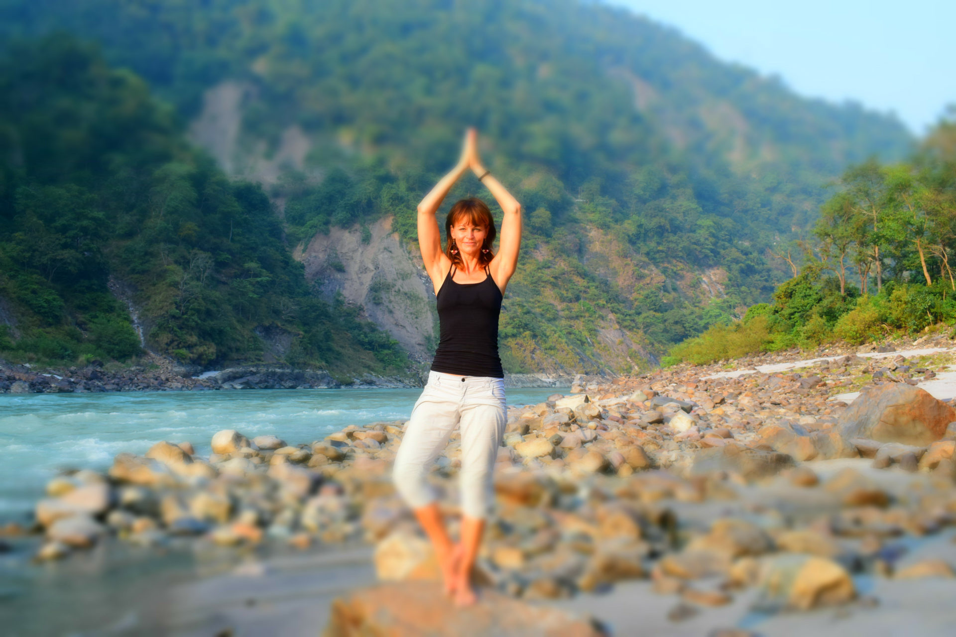 Rishikesh mit Evelyn Vysher