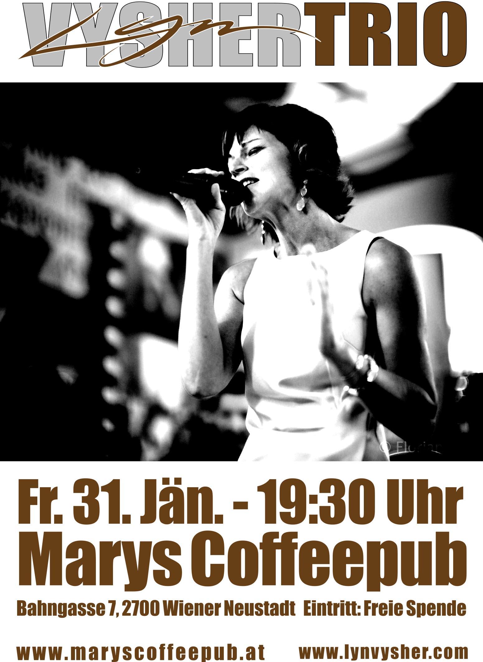 Liveauftritt Marys Coffepub Wr Neustadt vom Lyn Vysher Trio